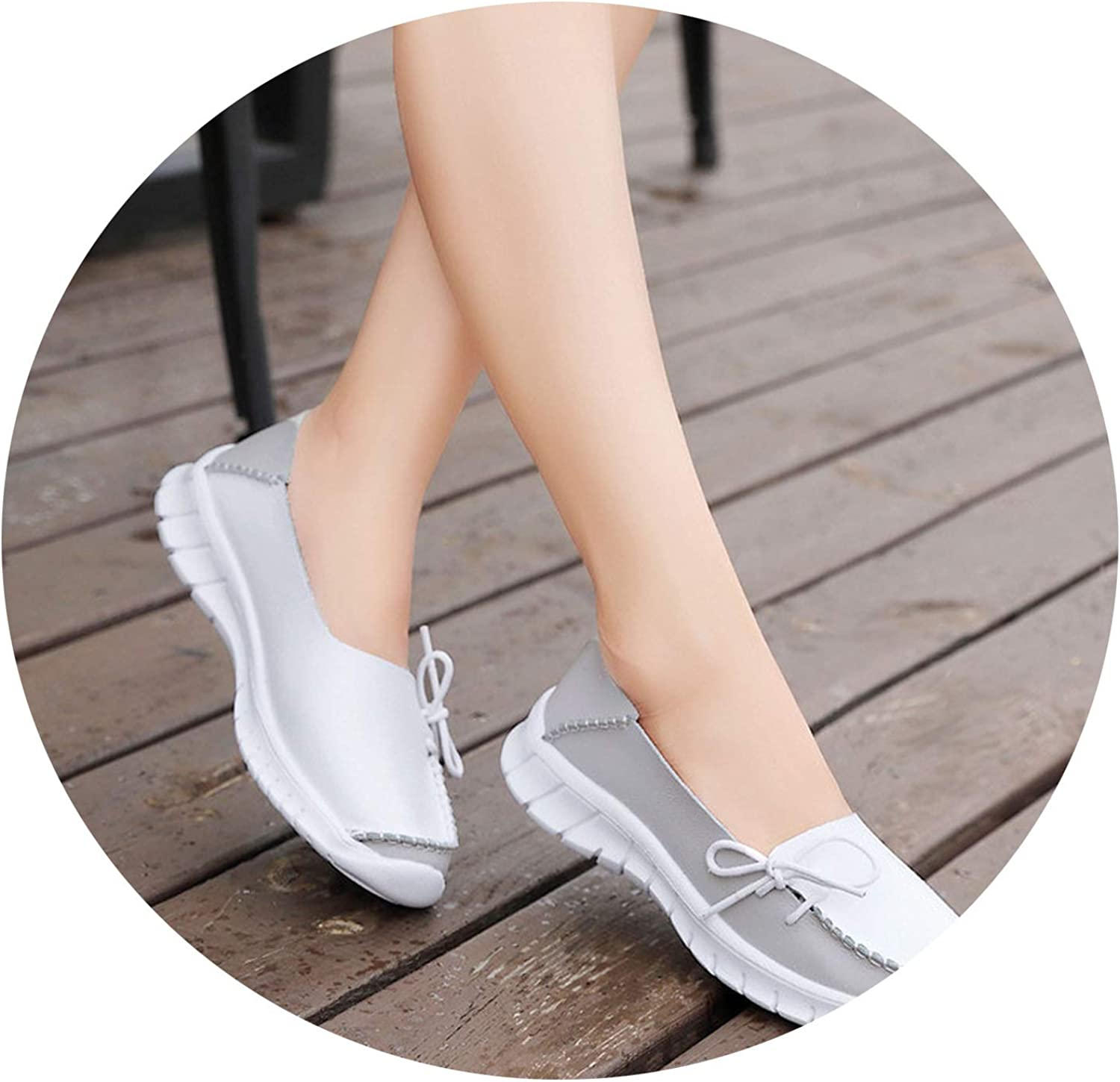 Be fearless 2019 Autumn Women shoes Genuine Leather Slip On Flats shoes Woman Handmade Loafers