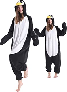 Adult Penguin Pajamas One Piece Halloween Christmas Cosplay Penguin Costume Animal Onesie Homewear Sleepwear for Women Men