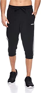 adidas mens Essentials 3 Stripes 3/4 Pant French Terry PANTS