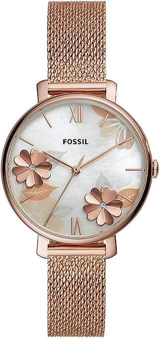Fossil Reloj Analógico para Mujer de Cuarzo con Correa en Acero Inoxidable ES4534