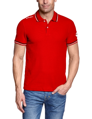 Lotto Q8144 Omega Off Polo Rouge Flame FR : XL (Taille Fabricant : XL)