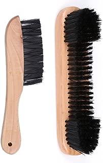 ttnight 1 Pair Wooden Rail Brush + Felt Brush Cleaner Billiard Snooker Pool Table Tool