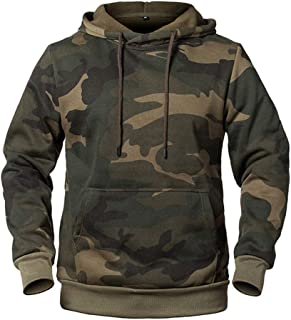 Messieurs Sweatshirt Pull Pull Hoodie Chemise Manches Longues Camouflage Indien NEUF