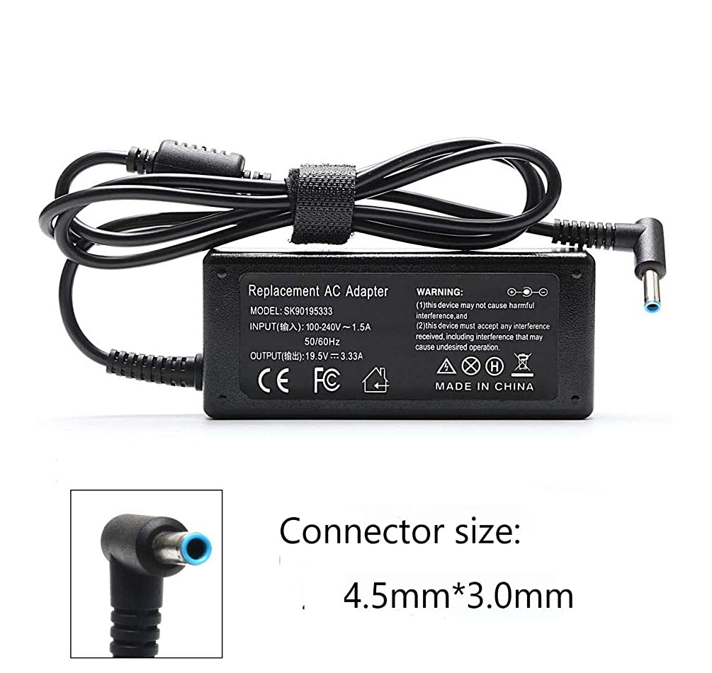 65W 19.5V 3.33A Laptop AC Adapter Charger for HP Envy x360 15-u010dx 15-u011dx 15-F009WM 15-u002xx 15-u050ca 15-F023WM 15-F039WM 15-F059WM 15-g074nr 14-f020us Notebook Battery Power Supply Cord