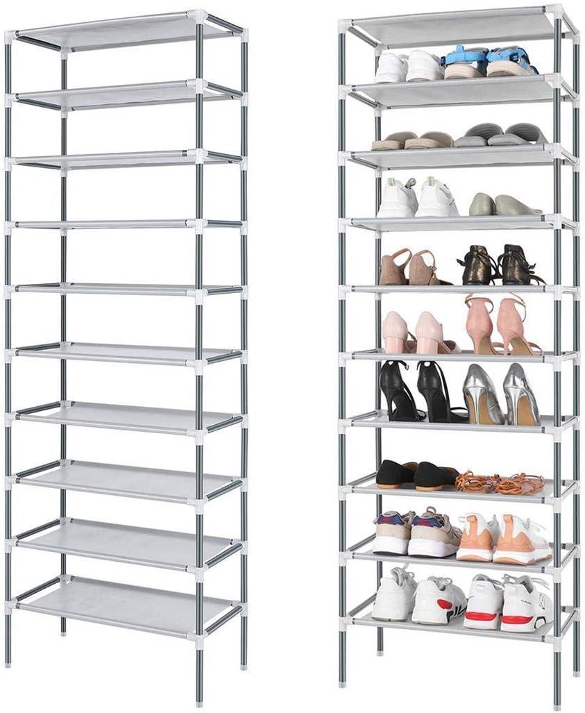 10 Tiers Easy Assembled Shoe Rack Org 市場 Storage 祝開店大放出セール開催中 Stand Sturdy Shelf