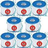 Haifei para Intex Tipo S1 PureSpa, cartuchos filtrantes para spa y baño de aguas residuales para Intex S1, filtro de repuesto para bomba de filtro para piscina Intex 29011E (8 unidades)