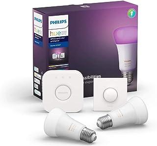 Philips Hue 929002216807 Żarówki LED z Regulatorami oraz Obsługą Amazon Alexa, E27, 19 W, Białe, 806 Lumenów, 2 Sztuki