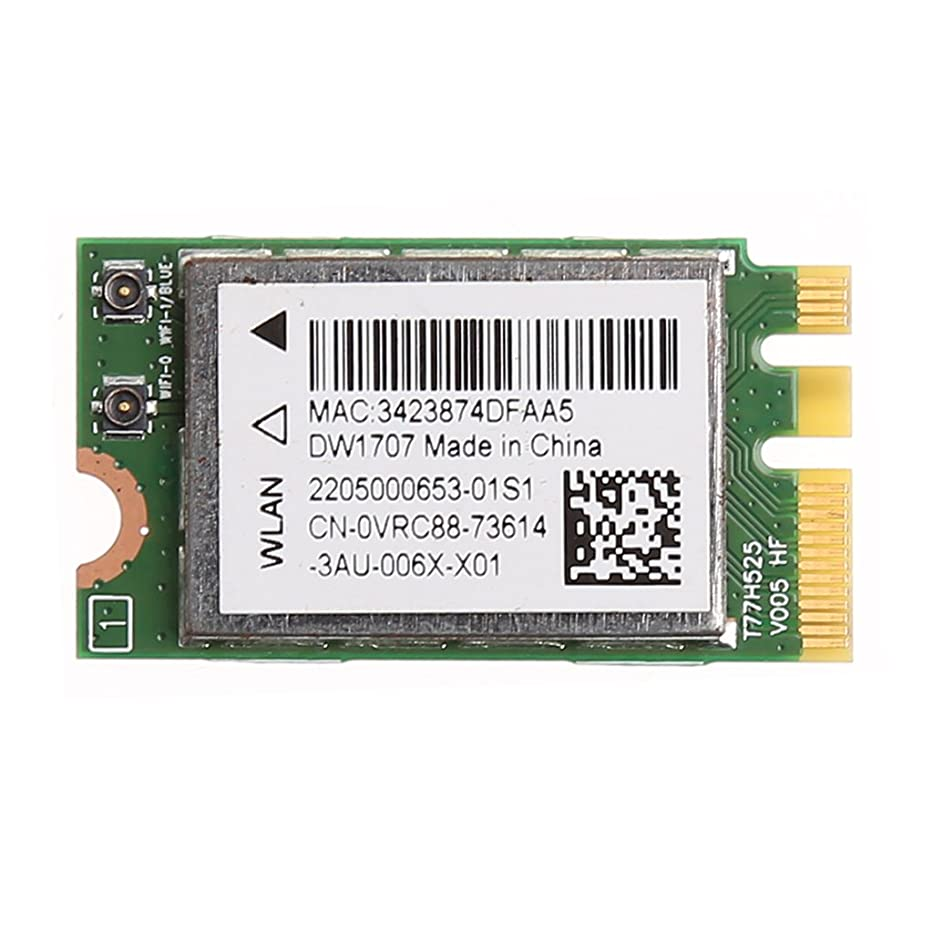 Someting2 Dell DW1707 VRC88 Qualcomm QCNFA335用300MワイヤレスBluetooth NGFF WIFIカード