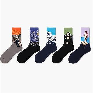 Casual socks الأزياء الأوروبية والأمريكية أنبوب الجوارب رائد فضاء الجوارب القطنية أربعة مواسم جوارب Unisex socks (Color : B)