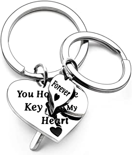 Couples Chrismas Gifts Keychain for Girlfriend Wife Boyfriend Husband Him Her -Puzzle Key Ring- You Hold The Key to My Hea...