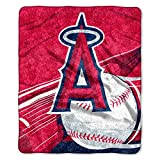 Officially Licensed MLB Los Angeles Angels 'Big Stick' Sherpa Throw Blanket, 50' x 60', Multi Color