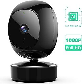 SimCam AI 1080 HD Home Security Camera 1S�Local Storage, Privacy-Protective, No Cloud Storage & 0 Subscription Fee, No lag, 2-Way Audio, Accurate Facial RECOG, Instant Alarm,Compatible with Alexa