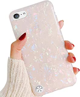 J.west iPod Touch 7 Case, iPod Touch 6 5 Case, Cute Ultra Thin [Tinfoil Series] Macaron Color Bling Lightweight Soft TPU Case Cover for Apple iPod Touch 5/6/7 (Colorful)
