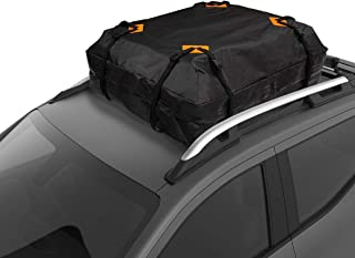 VaygWay Car Top Carrier Bag – Waterproof Cargo Storage Roof Bag – Heavy Duty Travel Auto Bag – Driving Road Trip for Cars SUVs