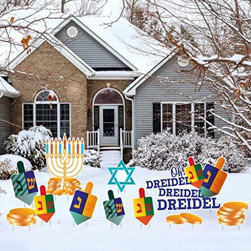 VictoryStore Yard Decorations: Dreidel Dreidel Dreidel Hanukkah Yard Decoration 11 Pc Set, Includes Stakes, 13632
