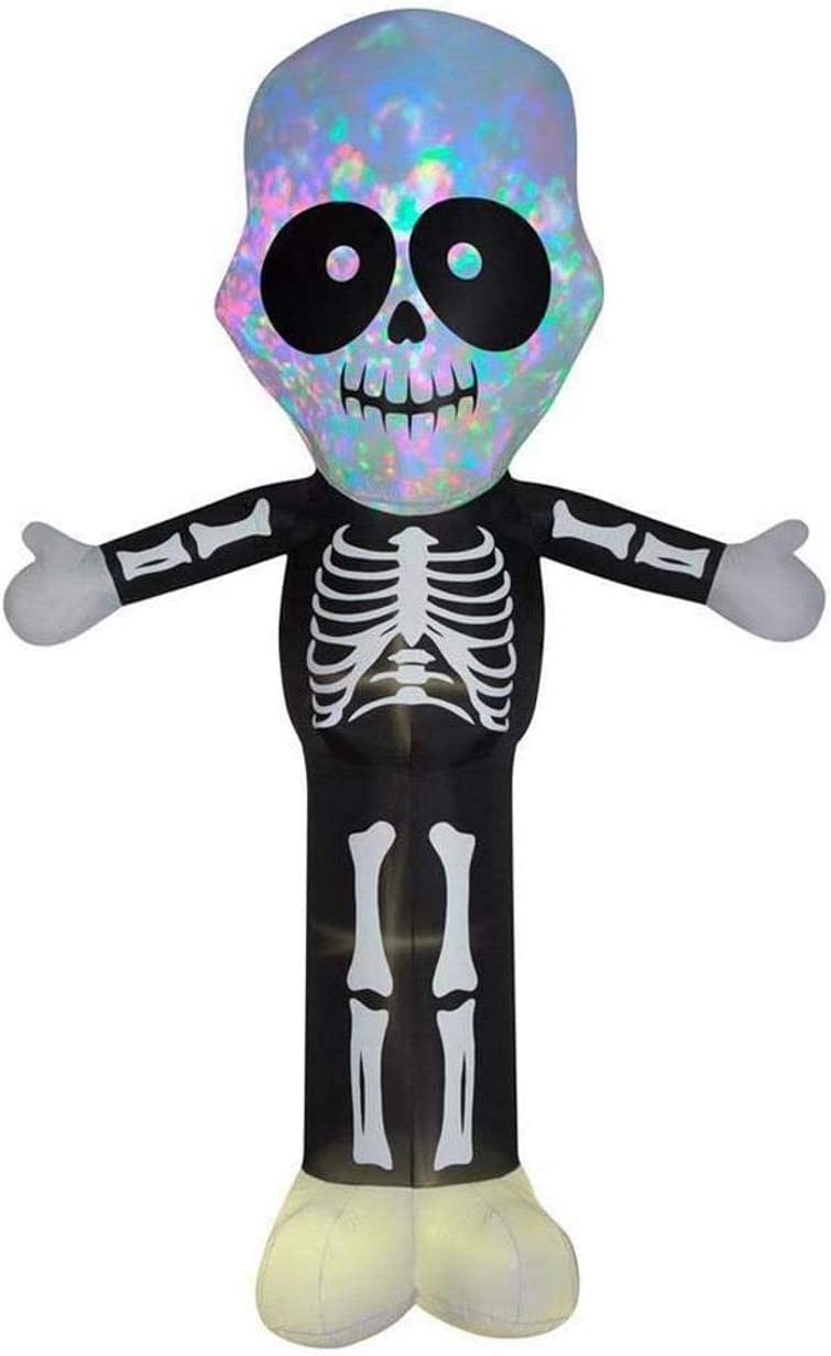 Max 75% OFF Gemmy 12' Airblown Inflatable Sales of SALE items from new works Kaleidoscope w Big Skeleton Head Y