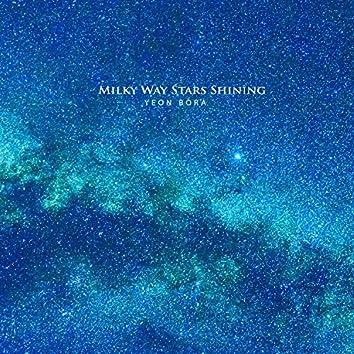 Milky Way Stars Shining