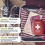 Notfall Erste Hilfe Set mit Inhalt aus Deutschland nach DIN 13167 + Notfallbeatmungshilfe + Burnshield-Gel für Brandwunden - 6