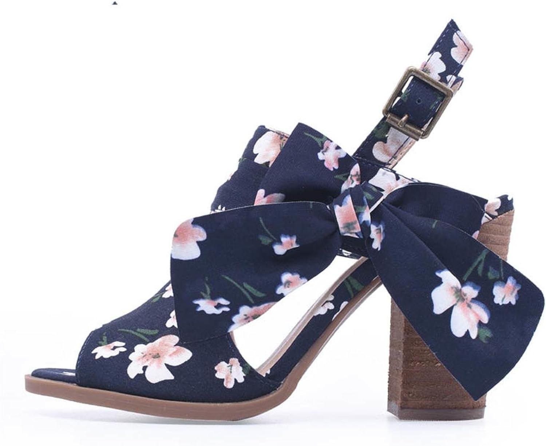 Women Sandals Black Buckle Strap Sandals Women Chunky Heels Summer shoes