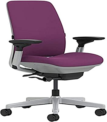 Steelcase Amia Chair with Platinum Base & Standard Carpet Casters, Concord -