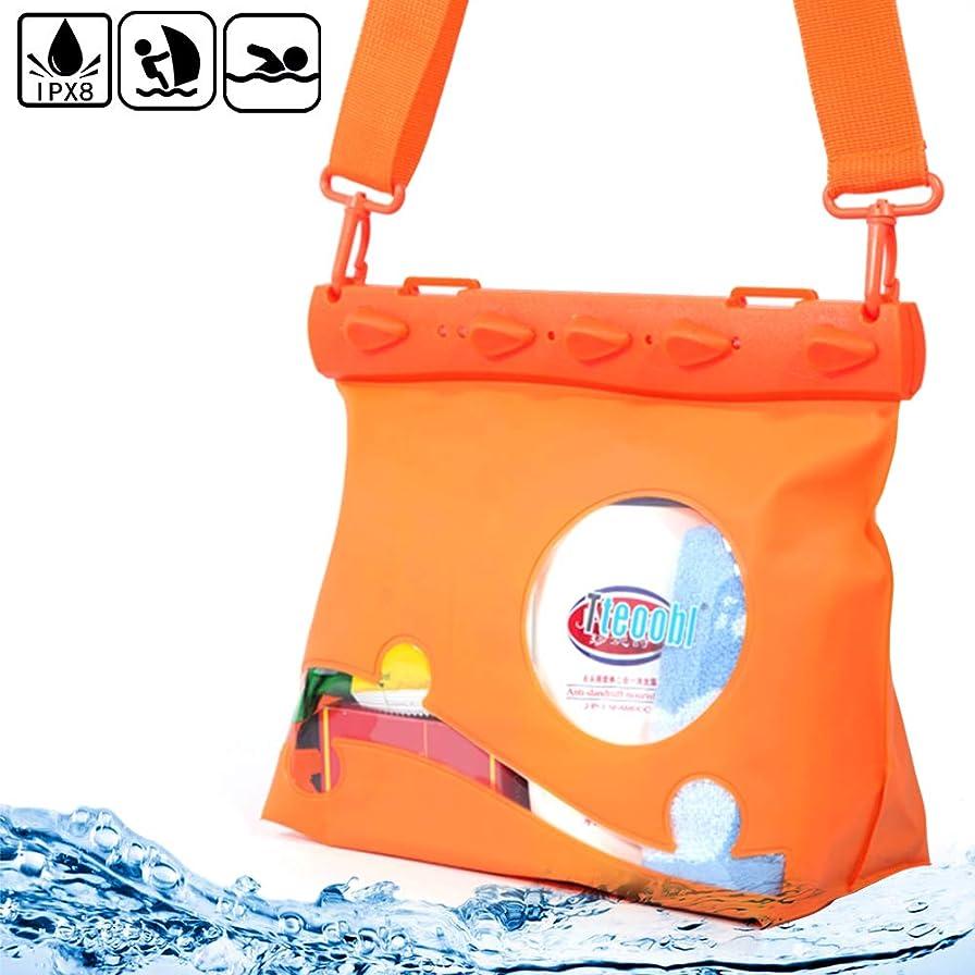 咳手段蒸し器Mercs Tteoobl 防水バッグ 100% 完全防水 Mサイズ ショルダーバッグ 防水保護等級IPX8 海水浴 川遊び プール トラベル アウトドア 防災 必需品