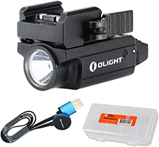 OLIGHT PL-Mini 2 Valkyrie 600 Lumen Magnetic USB Rechargeable Pistol Light for Glock, Sig Sauer, S&W, Springfield, Subcompact, Compact and Full Size Handguns with Rail