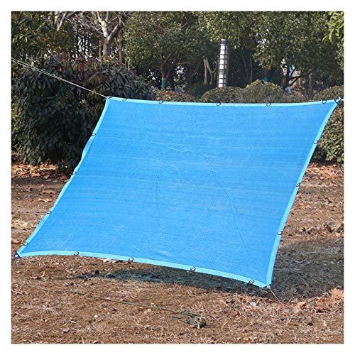 LSSB Paño De Sombra Azul Red De Protección Solar Al 90% con Ojales Resistente A Los Rayos Ultravioleta Velas De Sombra, para Invernadero, Estacionamiento, Patio O Perrera, Personalizable