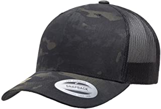 Yupoong 6606 Curved Bill Trucker Mesh Snapback Hat with NoSweat Hat Liner