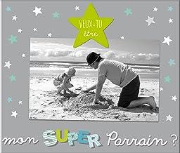 Cadre photo Super Parrain - Cadeau demande parrain