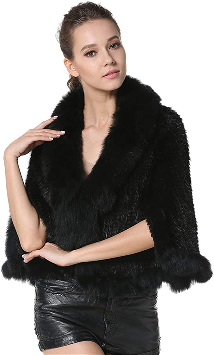 All Online limited product stores are sold KAISHIN Fashion Real Mink Fur Poncho for Ladies Casual Women Rea