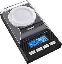 Homgeek High Precision Professional Digital Milligram Scale 50g/0.001g Mini Electronic Balance Powder Scale Black Gold Jewelry Carat Scale Digital Weight