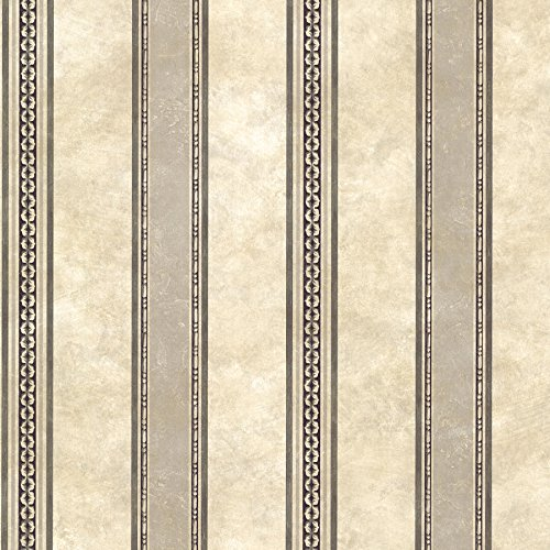 Chesapeake SRC761910 Castine Tuscan Stripe Wallpaper, Charcoal
