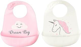 Hudson Baby Unisex Baby Silicone Bibs