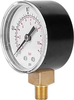 Medidor de pressão, preciso sem bateria, caixa de aço inoxidável, medidor de pressão de óleo, aplicações líquidas para med...