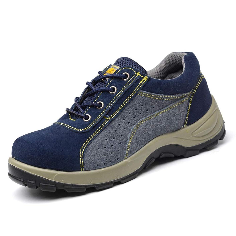 ラメ王族旧正月踏み抜き防止 安全靴 作業用 業務用 メンズ レディース 大きいサイズ スエード製 レースアップ ローカット メッシュ 通気性抜群 先芯入り つま先保護 耐滑 セーフティーシューズ
