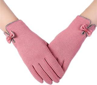 haoricu Women Gloves, Fashion Autumn Winter Bow-Knot Ladies Outdoor Sport Warm Gloves