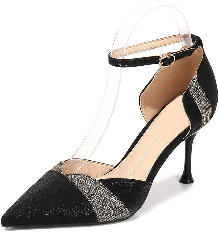 Sandalette Hohen Hohen Sommer Mode Einfache Stiletto Damenschuhe 8Cm  heiße limitierte Auflage