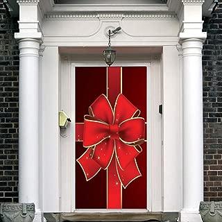 JoCome🌟 3D Christmas Door Decal Sticker-Christmas Santa Door Stickers Decor Door Wall Mural Wallpaper Removable Door Cover Decoration Vinyl Wall Stickers for Door Home Decoration
