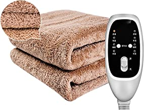 Electric Blankets, Double Control Double Bed Electric Heated Blanket Throw Over Soft, Washable Polyester Warm Mattress,Bro...