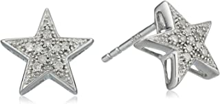 Sterling Silver Diamond Star Earrings (1/10 cttw, J-K Color, I2-I3 Clarity)