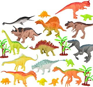 yeesport 55PCS Dinosaur Playset Educational Realistic Plastic Mini Dinosaur Figure Toy Dino Figurine Toy Dino Toy for Kids...