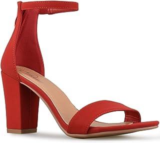 5648cba8570c Premier Standard Women s Strappy Chunky Block High Heel - Formal