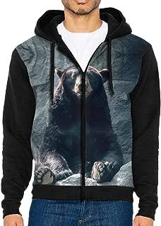 Men's Full-Zip Hoodie Sweatshirt Bear Moment of Bliss Sportswear Jackets with Pockets