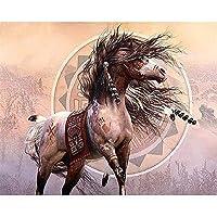 大人と10代の若者のための4000ピースのジグソーパズルインドの部族が飾った馬のジグソーパズル、4000ピース
