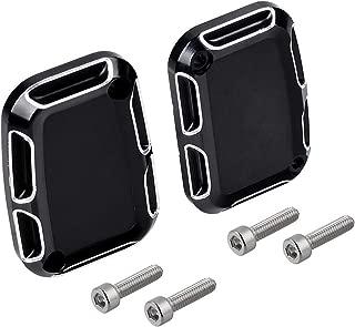 1 Pair Edge Cutting Front Clutch & Brake Master Cylinder Covers Set Compatible with Harley VRSCX 2007 V Rod Muscle VRSCF 2010-2017 VRSCF 2009 VRSCAW 2008-2009 VRSCAW 2007