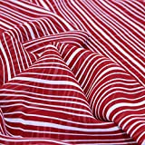 kawenSTOFFE Chiffonstoff Weiß Rot Designerstoff Georgette