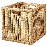 AKWAY Wicker wardrobe basket for storage, cloths, newspapers, photos or other memorabilia, 12.5