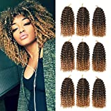 9 Bundles/Lot Marlybob Crochet Braids Hair 8Inch Synthetic Ombre Braiding Hair Extensions Small Afro Kinky Curly Twist Braid Hair(T1B/27#)