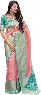 فستان هندي للنساء من بيتش فاشون باناراسي من الحرير مع بلوزة بتصميم ساري 6072