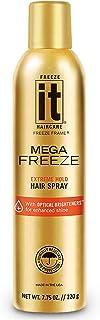 Sponsored Ad - IT Haircare MEGA Freeze Extreme Hold Hair Spray | 7.75 Oz. | Vitamin B5 & Hydrolyzed Wheat Protein | Humidi...